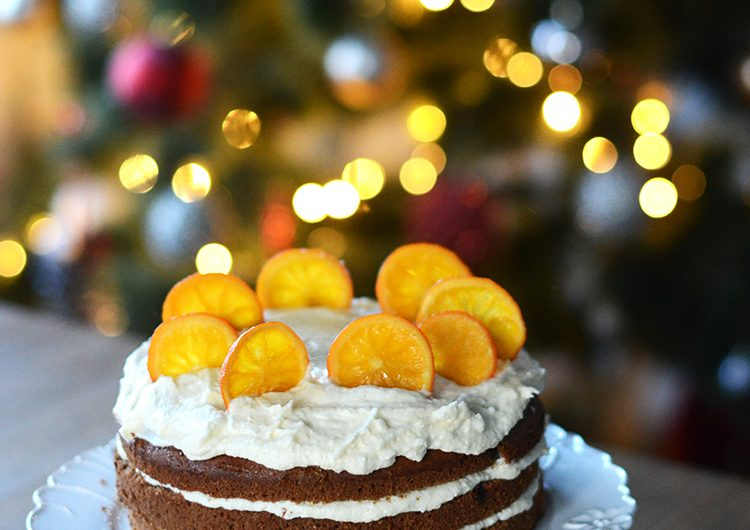 Коледна торта с джинджифил и портокали