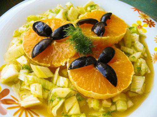 Салата с резене и портокали