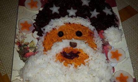 Салата Дядо Коледа - Рецепта