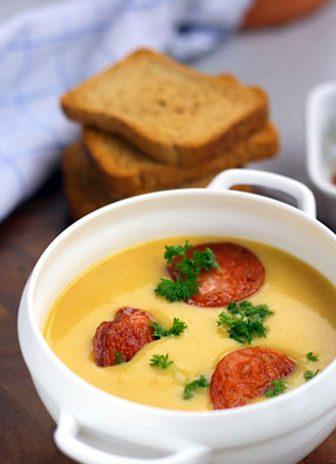 Картофена крем супа с наденица